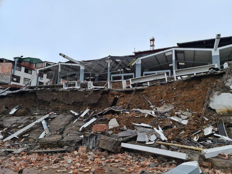 Plaza de mercado de Ubalá se desplomó