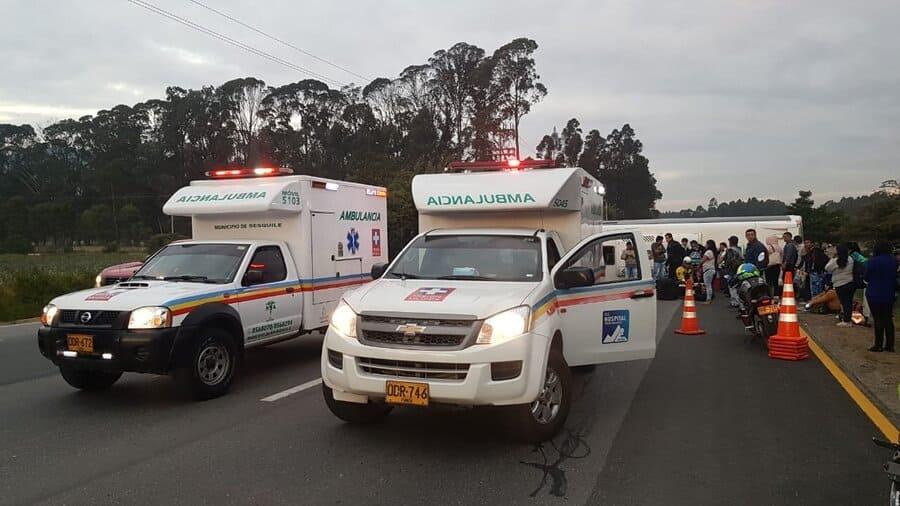 Accidente de bus en Sopó, Cundinamarca