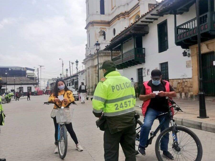 Aplican capacitaciones para ciclistas en Funza