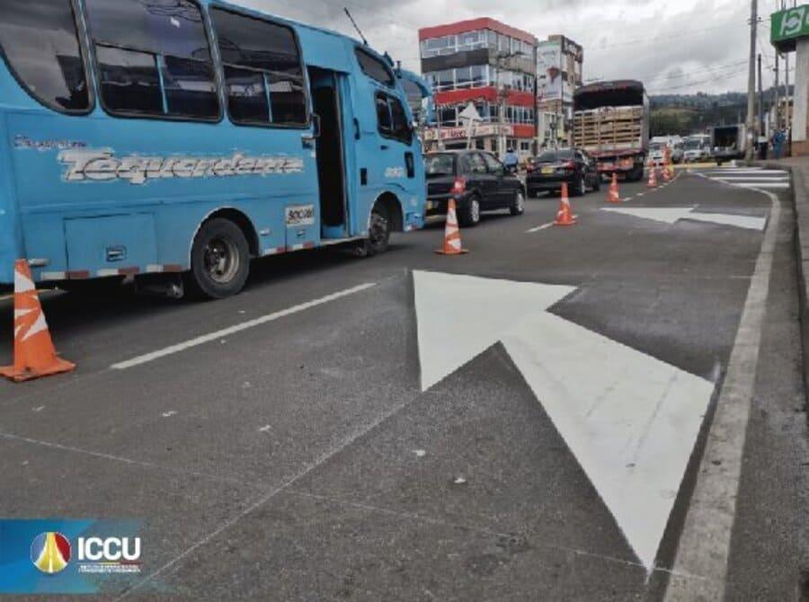 Señalización en las calles de Soacha para mejorar seguridad vial